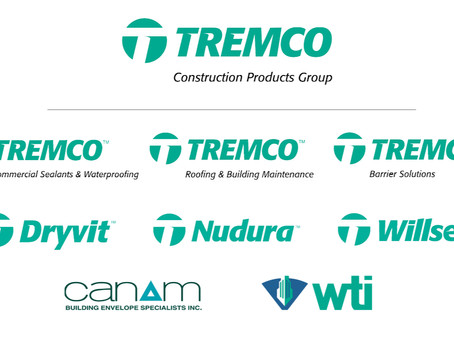 New Tremco Construction Products Group Unites Leading Brands, Offers Industry's First Single-Source