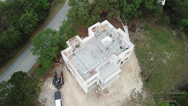 Austin Touchstone Builders - Net Zero Model Home - Steel Day 6 Cold Steel Continues