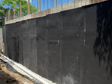 Water Proofing of Retaining Wall