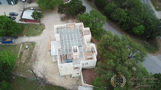 Austin Touchstone Builders - Net Zero Model Home - Steel Day 5 Cold Steel Continues