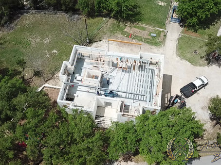 Austin Touchstone Builders - Net Zero Model Home - Steel Day 2 Cold Steel Progress