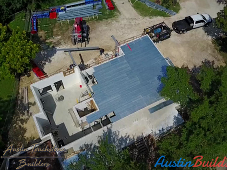 Austin Touchstone Builders - Concrete Floor Pan & Steel Install
