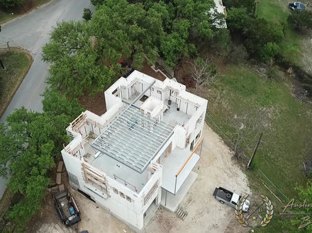 Austin Touchstone Builders - Net Zero Model Home - Steel Day 3 Cold Steel Continues