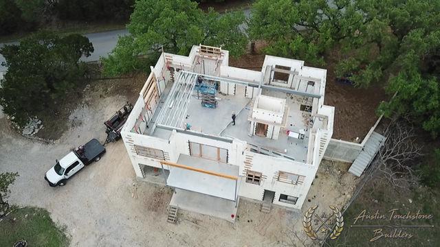 Austin Touchstone Builders - Net Zero Model Home - Steel Day 2 Cold Steel Begins