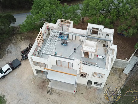 Austin Touchstone Builders - Net Zero Model Home - Steel Day 2 Cold Steel Begins