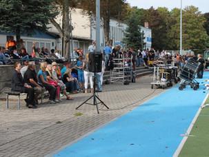 Abschlusshow der Heartliner auf der Ludwigshafener Parkinsel