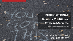 Free Webinar: Stress in Traditional Chinese Medicine