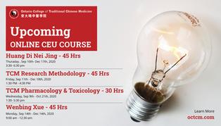 Upcoming Online CEU Courses