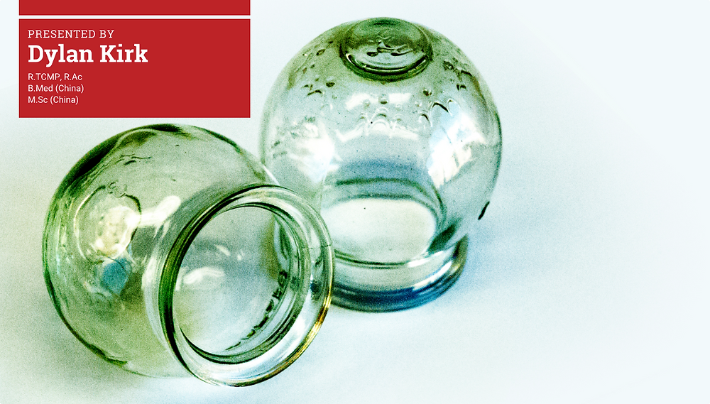 2 Green glass cups used in TCM Cupping therapy