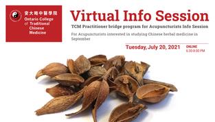 TCM Practitioner bridge program for Acupuncturists Info Session - ASK US!