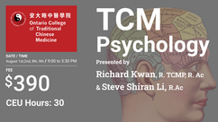CEU Course: TCM Psychology