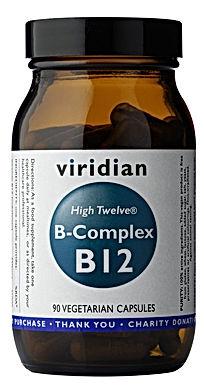 VIRIDIAN, HIGH TWELVE B-COMPLEX, B12, 90 TABLETIEK