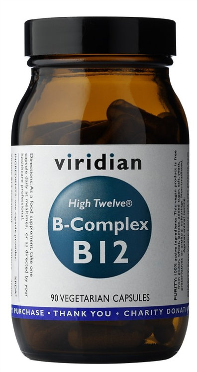 VIRIDIAN, HIGH TWELVE B-COMPLEX, B12, 90 TABLETIEK