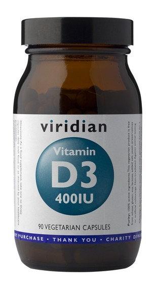 VIRIDIAN, VITAMÍN D3, 400IU