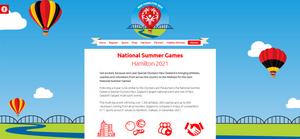 National Summer Games 2021 website screenshot