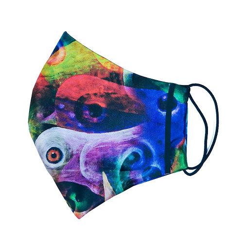 Многоразовая маска «Попугаи»