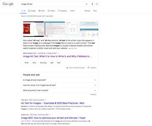 image alt text SEO in google SERP