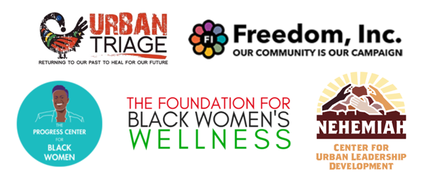 Freedom, Inc. Urban Triage The Progress Center for Black Women The Foundation for Black Women's Wellness Nehemiah Center for Urban Leadership Development CultureCon