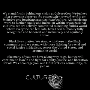 Black Lives Matter CultureCon Statement