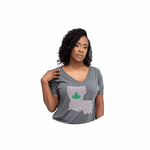Rep Your State Flowy V-Neck Short Sleeve