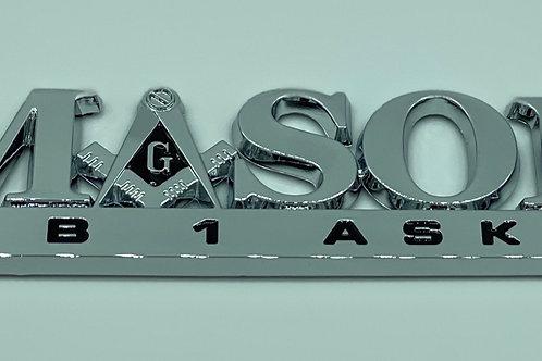 Mason Car Tag