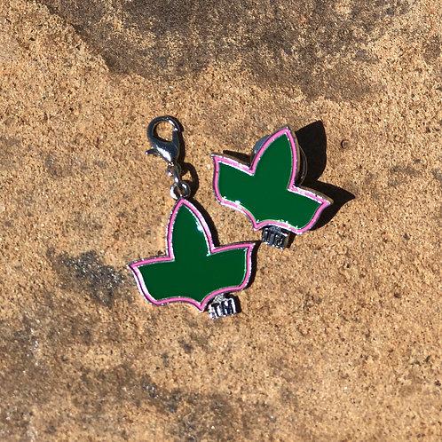Ivy Charm/Lapel Pin Set