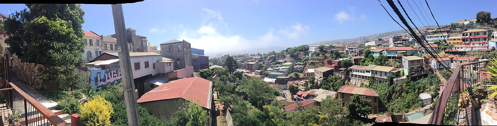 View from Cirilo Armstrong Hotel in Valparaiso