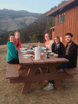 Dinner at the Whale Point Cabin