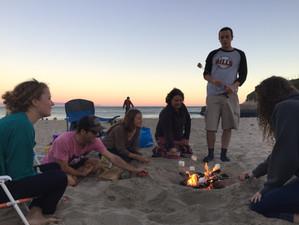 A bonfire send-off for Hande, Niki and Leslee!