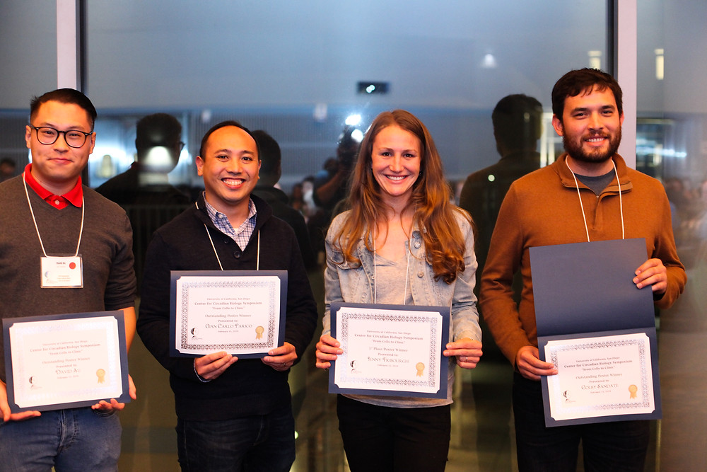 Poster prize winners at 2019 CCB Symposium