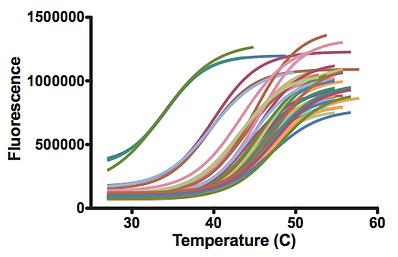 Sample thermal shift data
