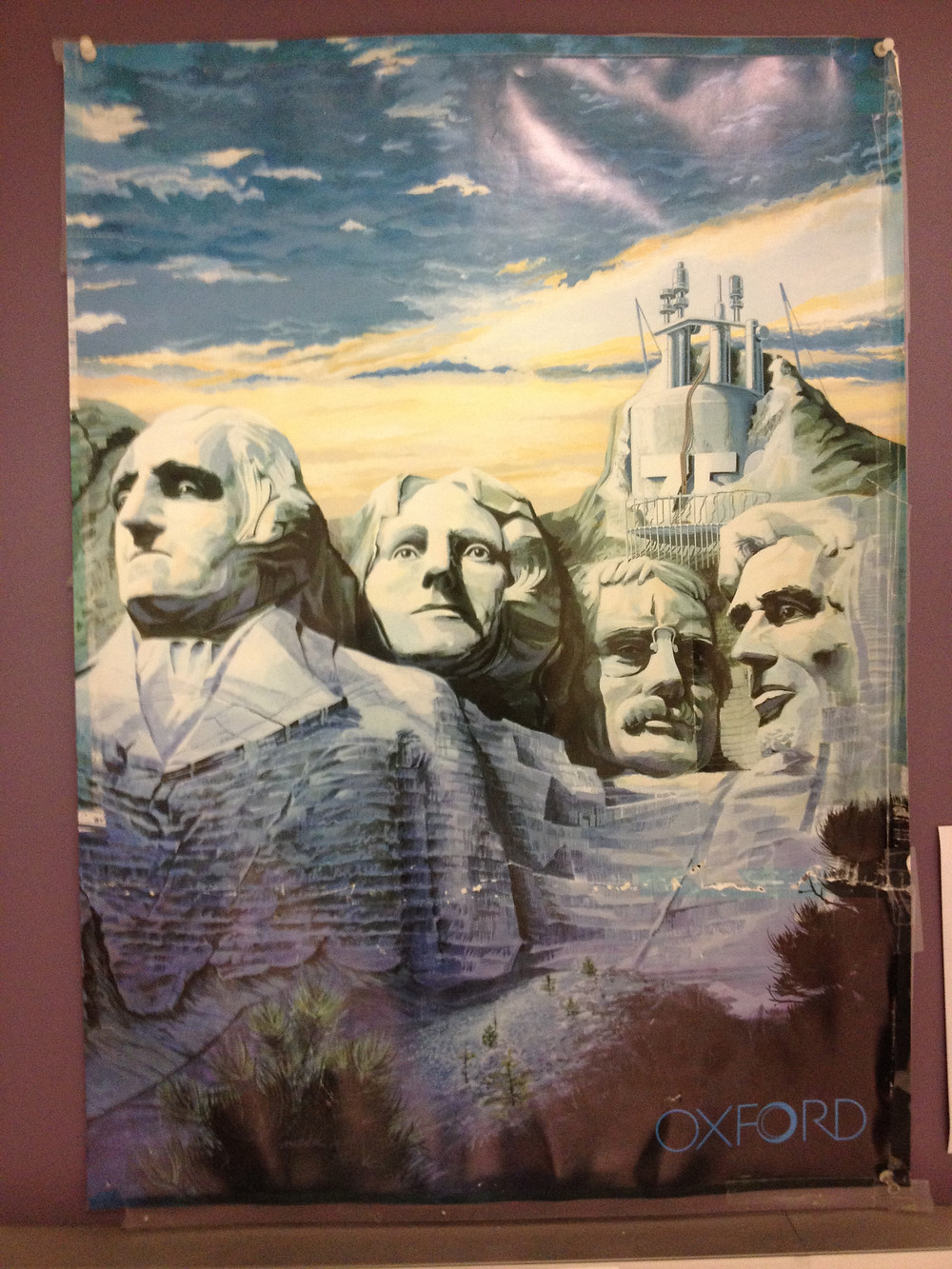 vintage Oxford Instruments promotional poster_Mt. Rushmore