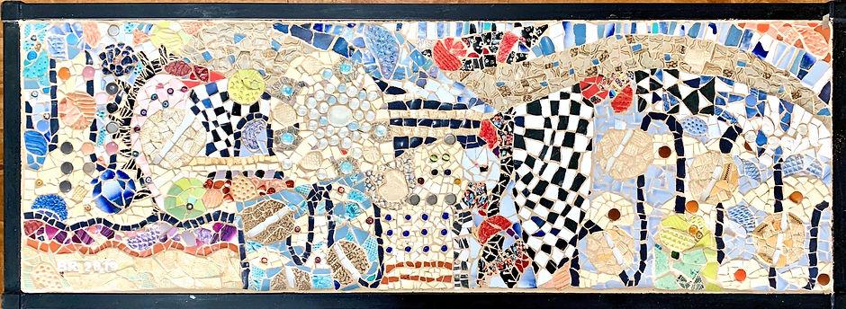 klimt mosaic table tiop