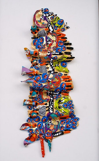 """""""Fragments""""  polymer clay sculptures  13x6""""   (Click to view more)"""