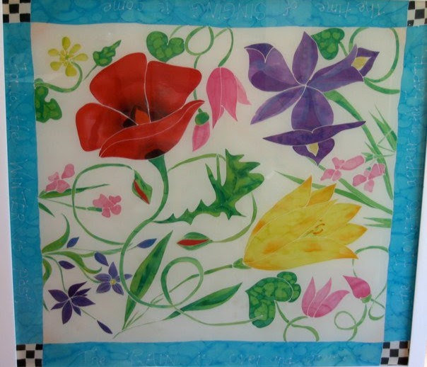 "Wild Flowers of Israel, silk 45x45"""