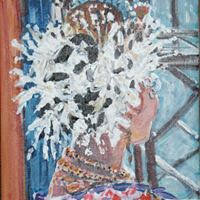 "Empollerada, Acrylic on Canvas 12x12"""