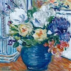 Still Life - Bouquet in blue vase