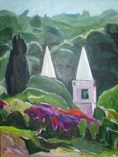 "Spires of Boquete   acrylic on canvas 9x12"""