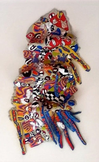 """""""Fragments"""" sculpture polymer clay"""