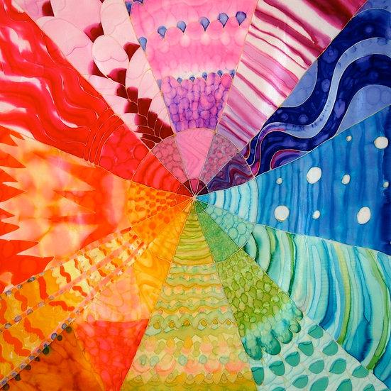 """Color Wheel, silk, 2007 30x30"""""""