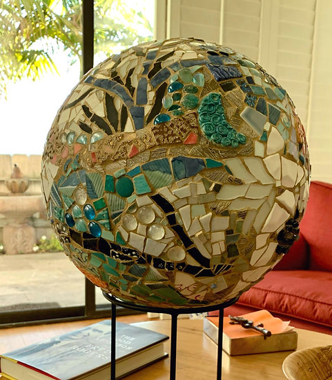 """Small World 4""  Mosaic Sculpture 13"" Diametr"
