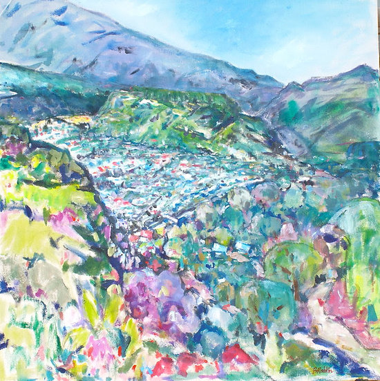 """""""BoqueteView from Jaramillo"""" acrylic on canvas 25x25"""""""