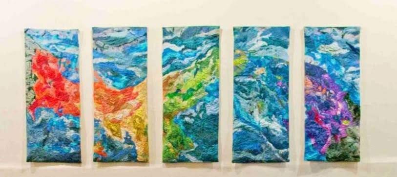 """Istmo"" silk tapestry 4' x 10"""