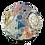 "Thumbnail: ""Small World 2"" Mosaic Sculpture 11"" diameter"