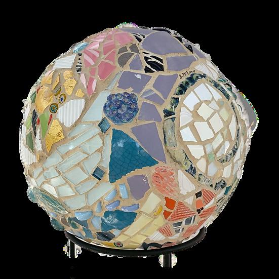 """""""Small World 2"""" Mosaic Sculpture 11"""" diameter"""