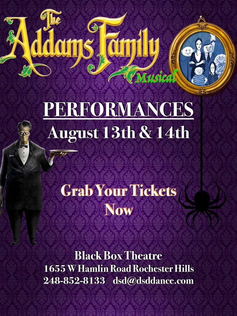 The Addams Family Musical Show at  Deborah's Stage Door