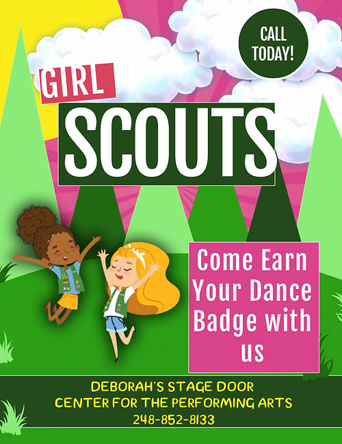 Girl Scouts Dance Badge at  Deborah's Stage Door