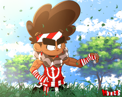 Ja'Khari in the field