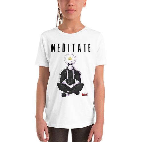 Cyrus Meditate Youth Short Sleeve T-Shirt (White)