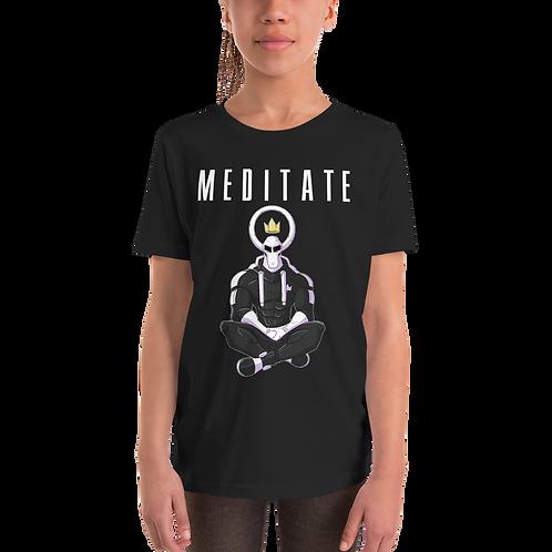 Cyrus Meditate Youth Short Sleeve T-Shirt (Black)